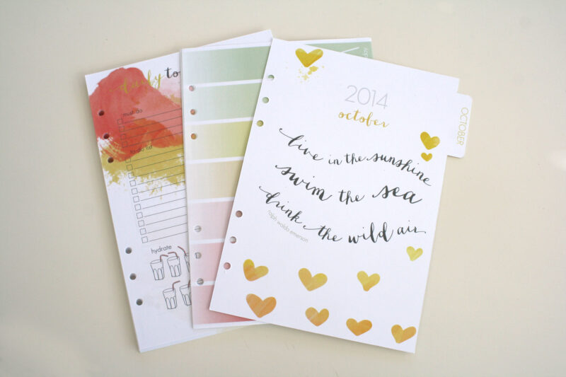 A5 planner pages