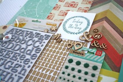 Cocoa Daisy Scrapbooking kits -  Blueprint, January 2014