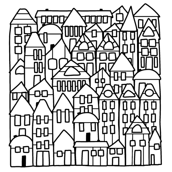 Cocoa Daisy neighbourhood house outline attached