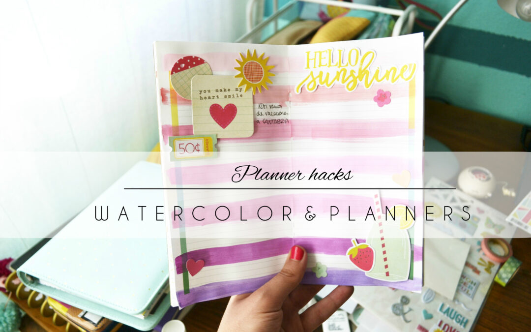Fun with watercolors and planners
