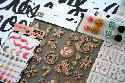 Cocoa Daisy Scrapbook Kits February Add On, Paint Chip