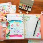 PLANNER AND WATERCOLORS. Techniques – Includes video