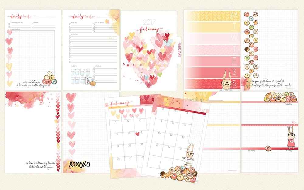 photo regarding A5 Planner Printables known as February 2017 A5 Planner Internet pages Simply (Simon Donuts)