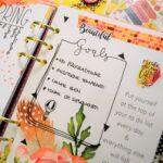 Bullet journal style planner