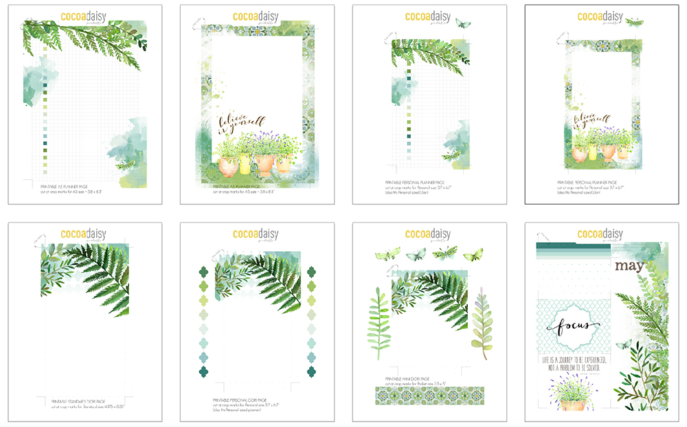 graphic about Planner Printable called May well 2017 No cost Planner Printables Cocoa Daisy