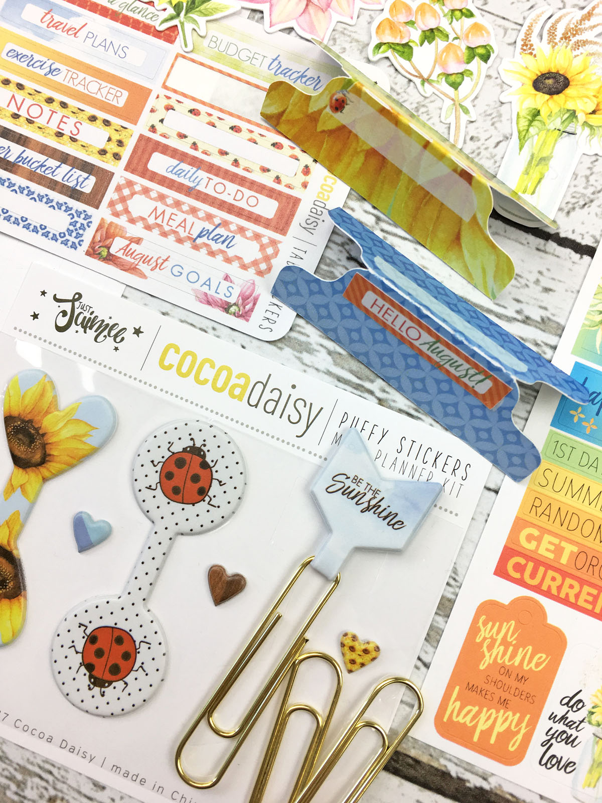 august 2017 a5 day planner kit  ring bound  sunflowers