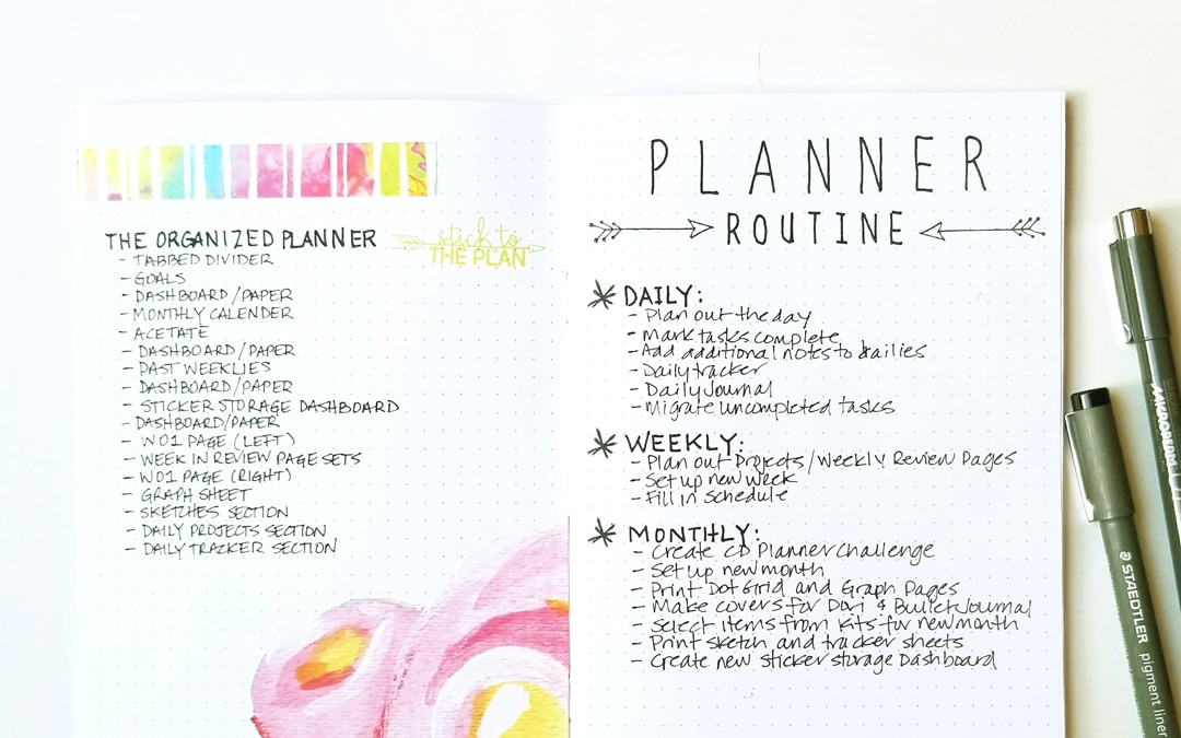 STICK TO THE PLAN: Creating a Planner Routine