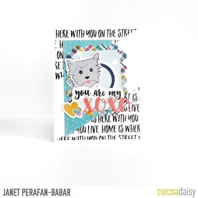 Janet Perafan-Babar | Cocoa Daisy July 2017 Scrapbook Card