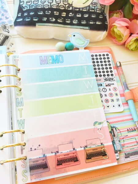 September Planner Set Up with Birds and Typewriters! Oh My! | Cocoa