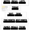 FREE Planner Tab/Words Cut Files