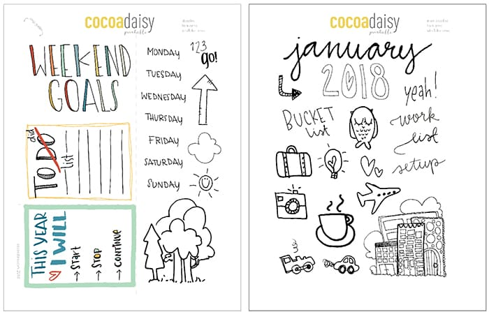 free planner templates 2018