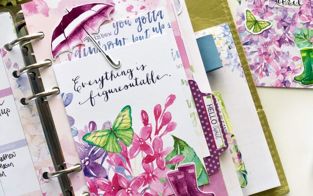 Using Up those Die Cuts in Your Planner (and Video)