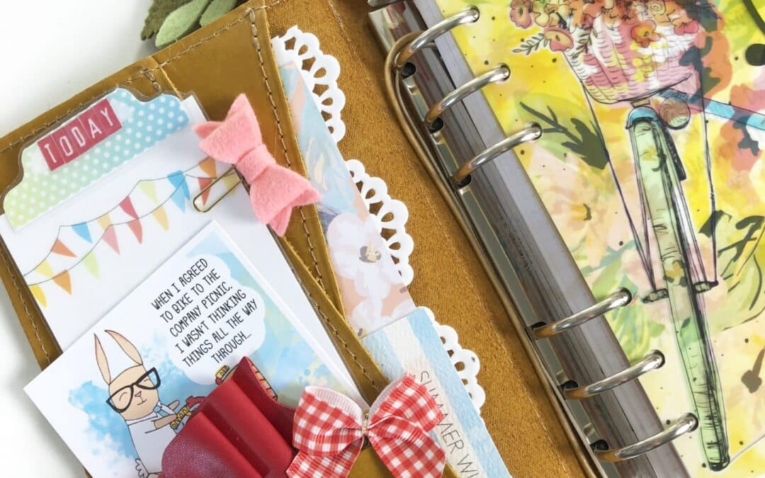 Using Pocket Cards in my Personal Day Planner Kit (Bicycles and Poppies)