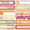 October 2018 Tab Label Stickers (Pumpkin Spice)