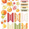 October 2018 More Die Cuts AND Planner Tabs (Pumpkin Spice)