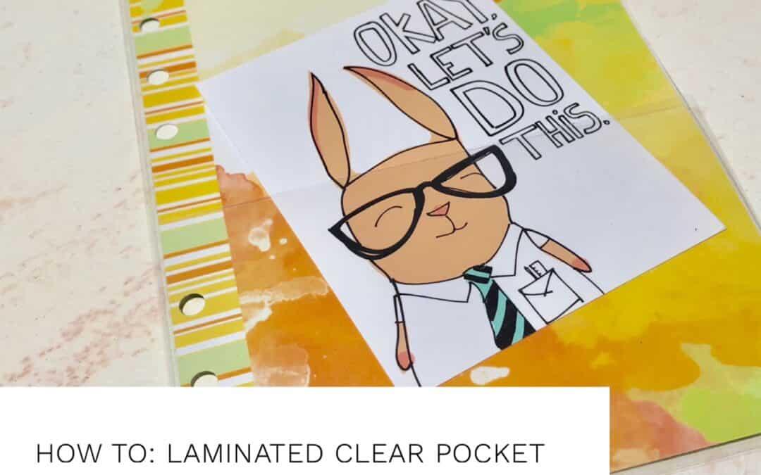 Tutorial : Laminated Pocket Dashboard