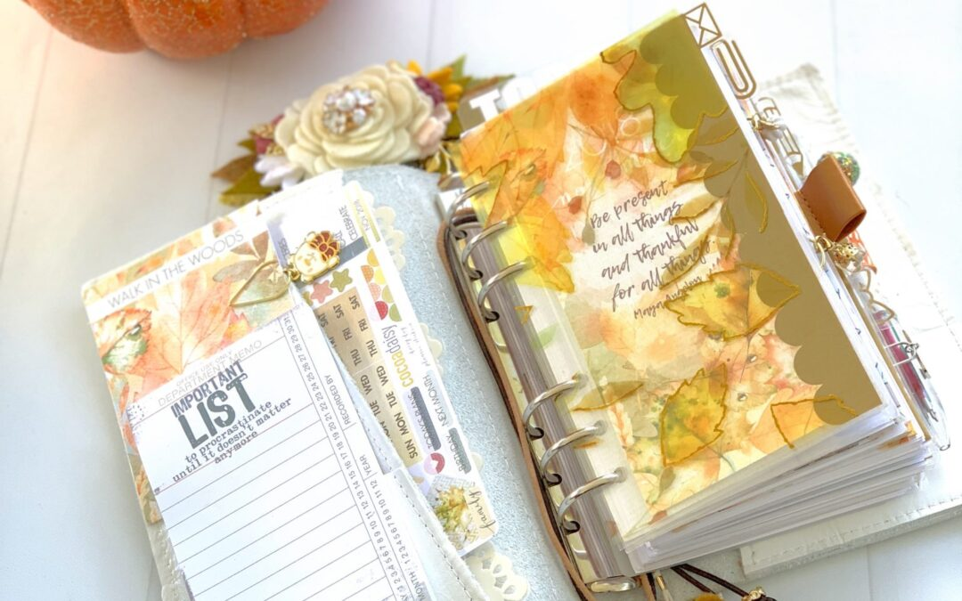 November Planner Setup in a Personal Ring Planner.
