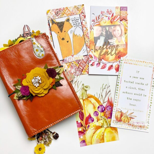 Dashboard Tutorial with October's Pumpkin Spice Personal Planner Kit with Video