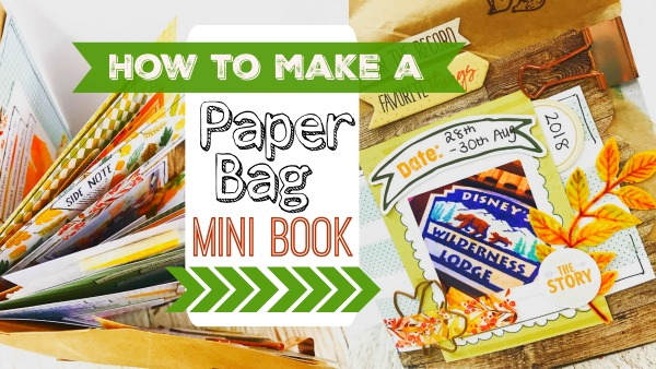 How to Make a Paper Bag Mini Book – with video