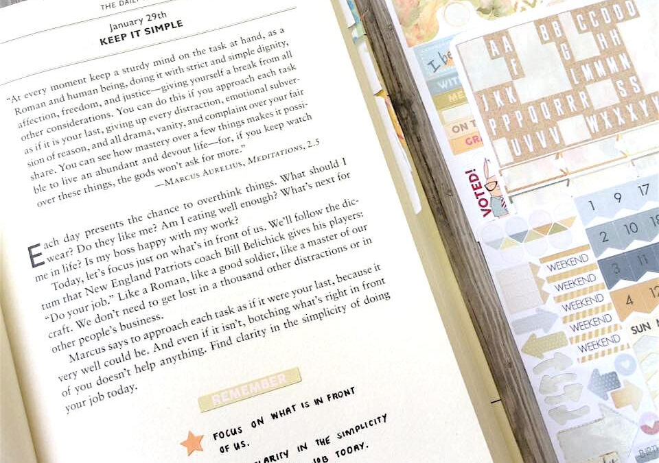 Using Planner Kit Leftovers in Book Journaling