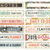 January 2019 Tab Label Stickers (Paper & Ink)