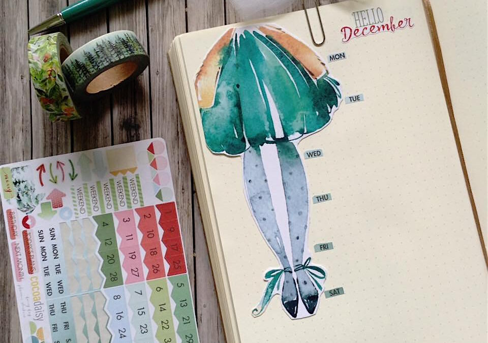 December 2018 and Holiday Bullet Journal Layouts