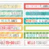 February 2019 Tab Label Stickers (Simon & Betty)