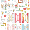 February 2019 More Die Cuts AND Planner Tabs (Simon & Betty)