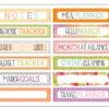 March 2019 Tab Label Stickers (Fresh Cut)