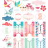 April 2019 More Die Cuts AND Planner Tabs (Cherish Blossom)