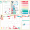 April 2019 Ring-Bound Personal Sized Planner Pages Only (Cherish Blossom)