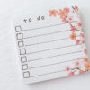 April 2019 More To Do Cherry Blossom Sticky Notes from Planner Kit