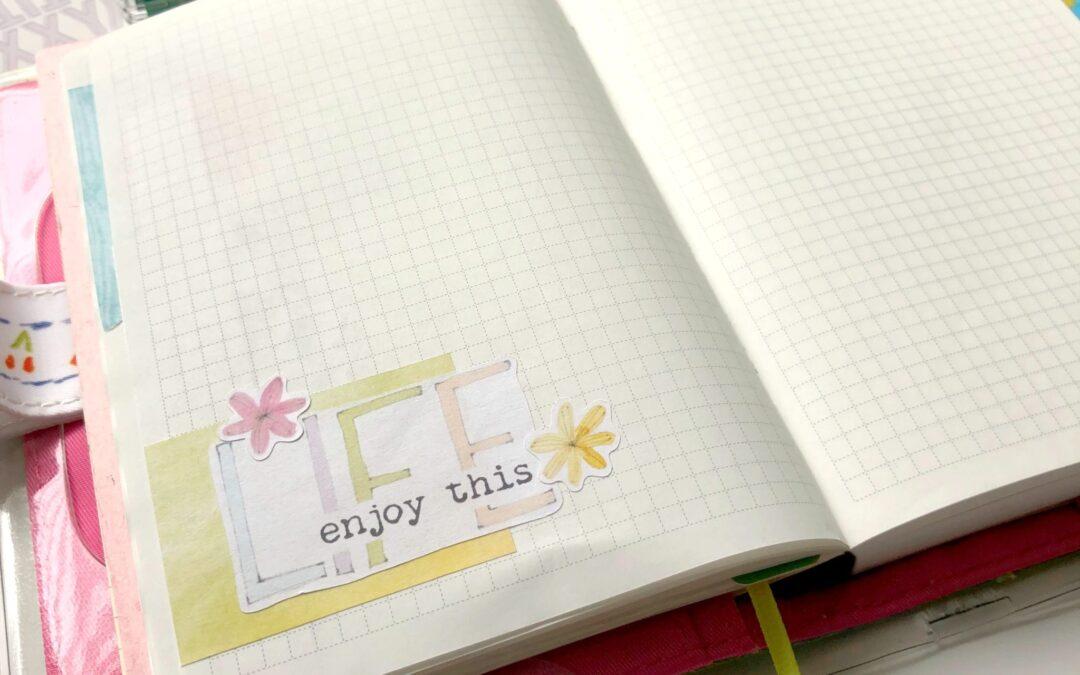 Memory Keeping Sticker kit in a journal