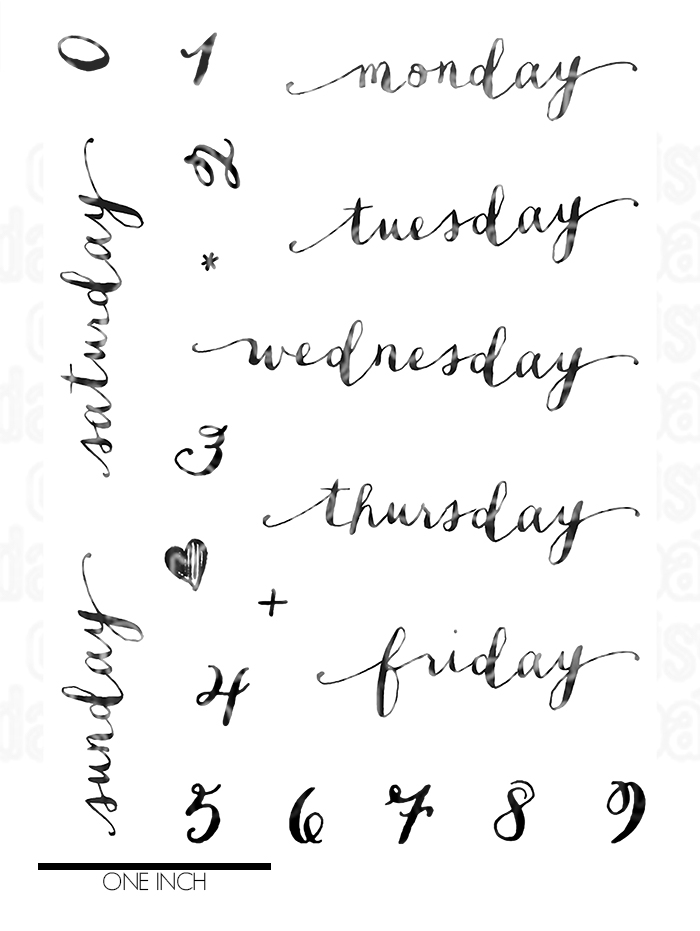 Days Of The Week Stamp From Picket Fence Pocket Kit