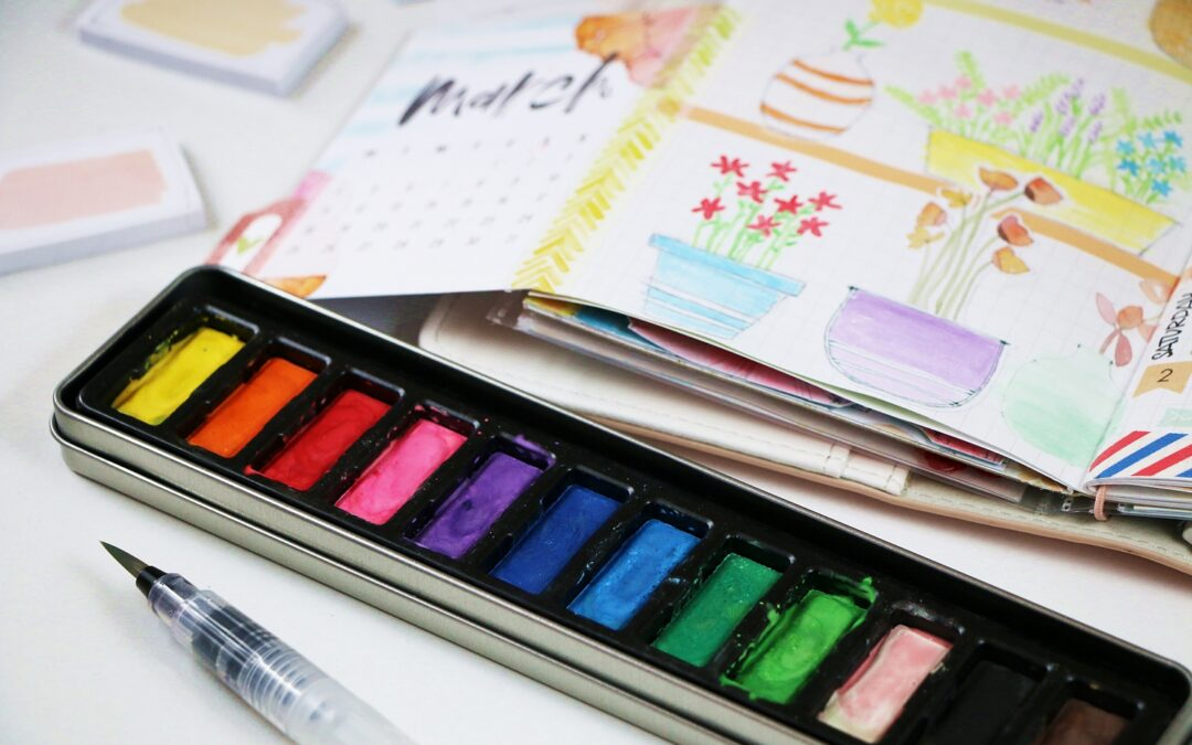 Using watercolour in TN planner + video.
