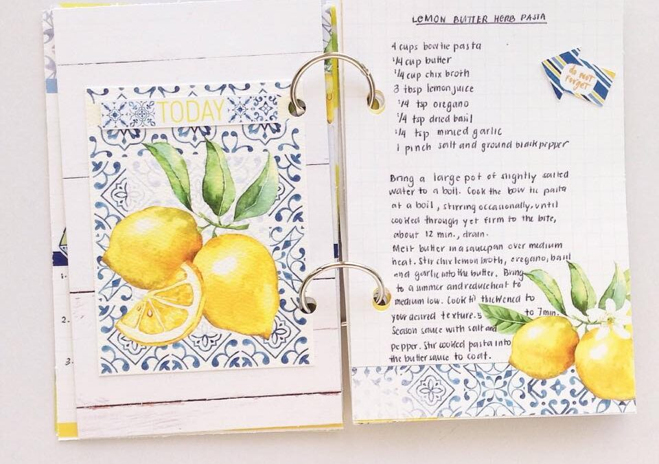 Lemon Mini Recipe Book