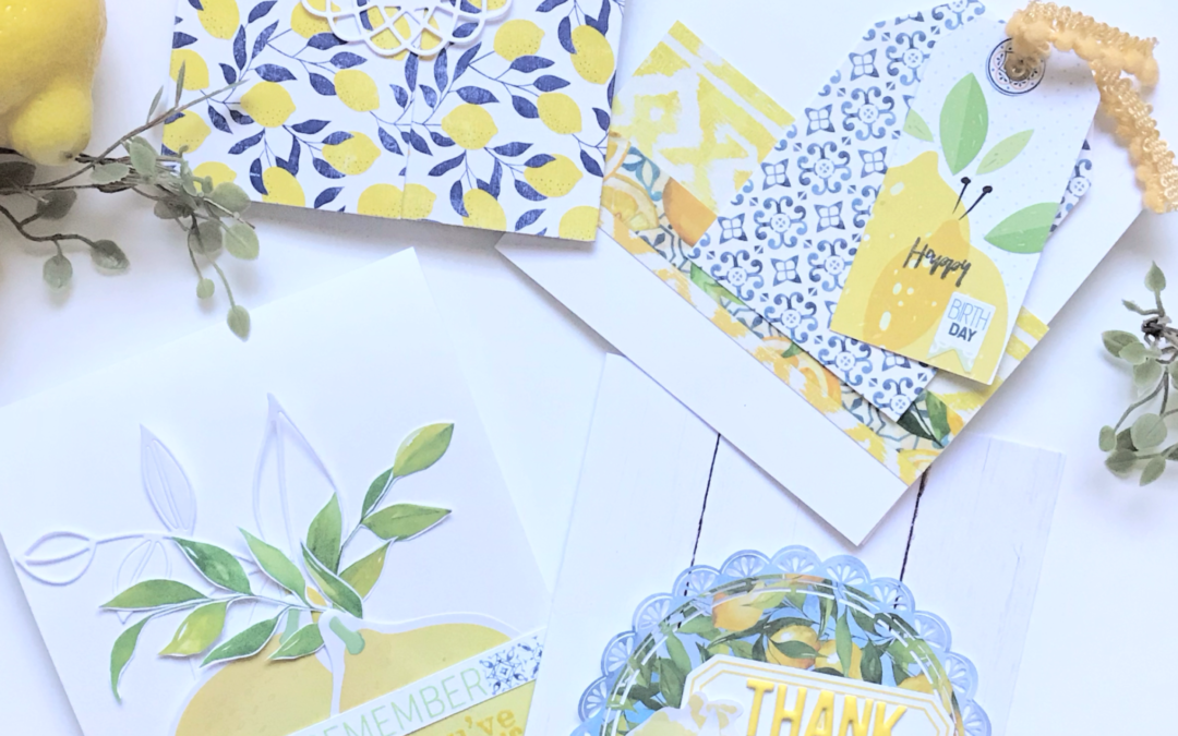 Fun and Fresh Cards using the Lemon Grove Kits