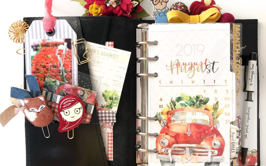 August Planner Set Up with Farmer's Market & Video