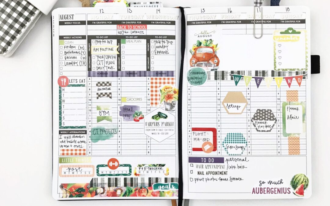 August Plan with Me!