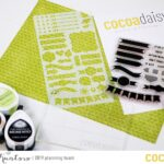 Product focus: The planner stamp set and the stencil.