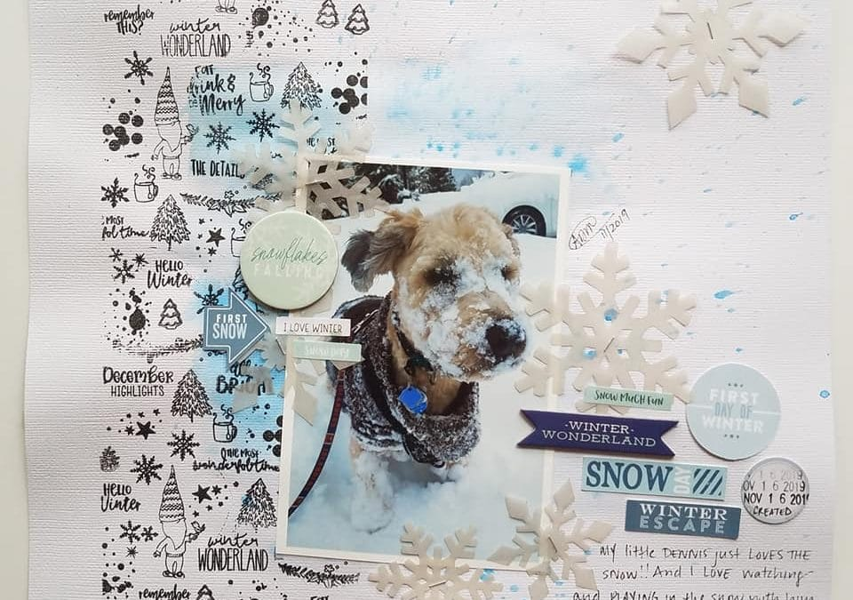 Mixed Media with the Nordic Woods Memory Keeping Kits