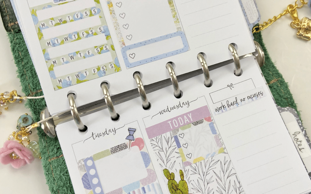January Noted Kit Week on 4 pages Plan with me video