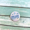 'To The Sea' Button For Magnetic Clip Topper July 2020