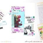 Superb Ways to Add Impact to Your Memory Keeping Pages with Purple and Blue