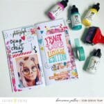 How to Use Stamps to Create Texture in Your Memory Keeping and Planner Pages