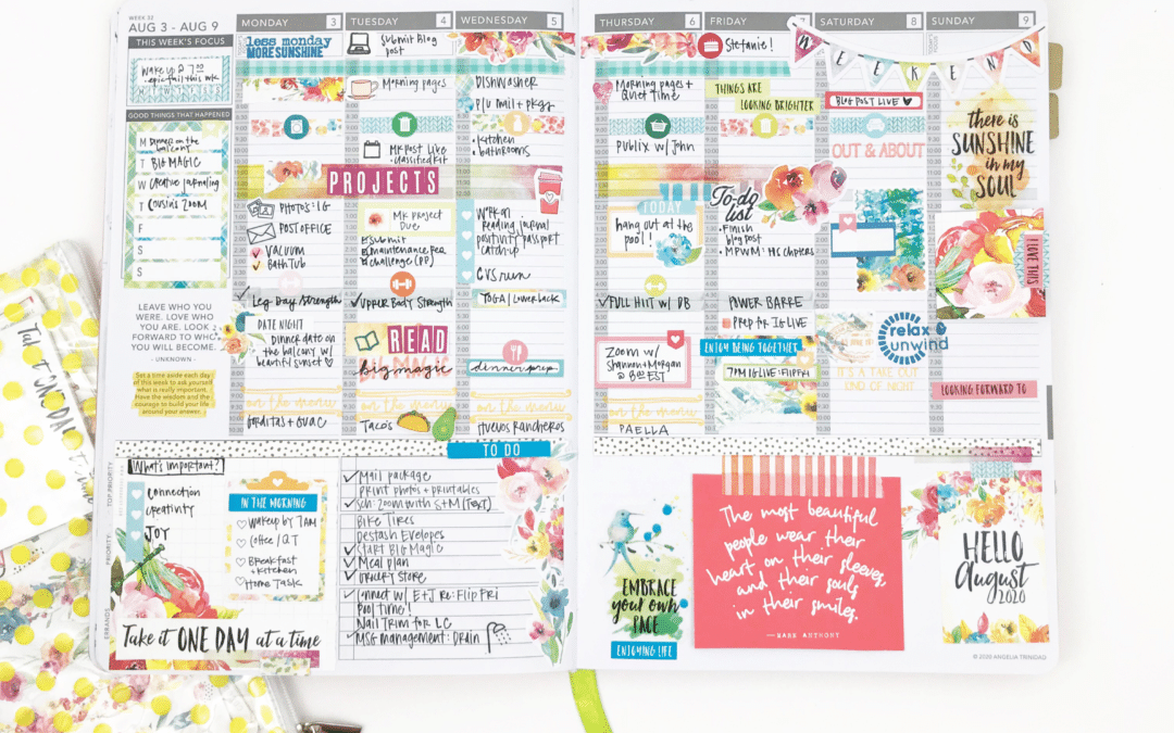 A Week in My Planner with Backyard Blooms