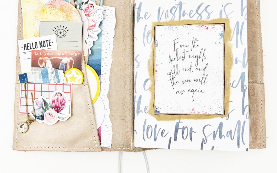 Preparing Journal Pages with the Solstice Kit