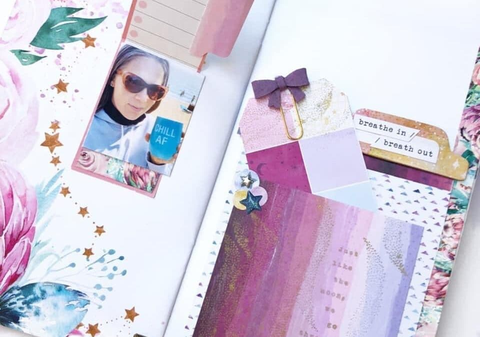 TN Tuesday: Ideas for Adding Pockets Embellished with Stamps