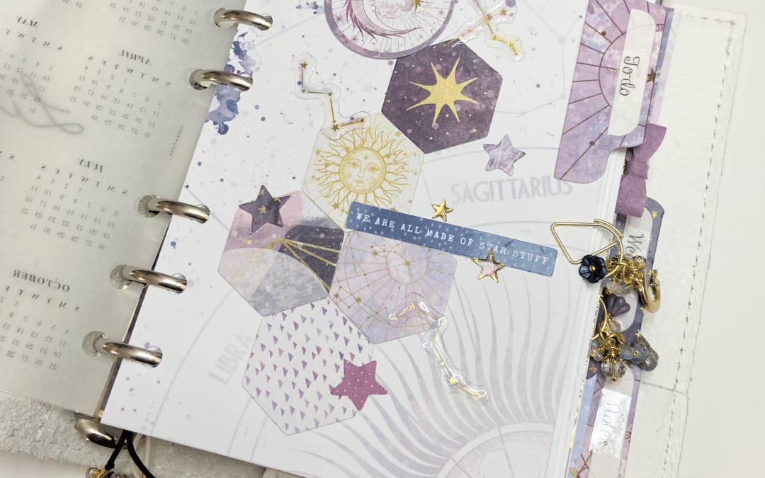 A look inside my September Planner with the Solstice kit