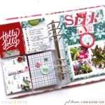 Cranberry and Plaid Design Ideas for Memory Keepers and Planners